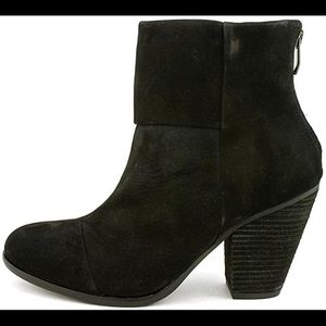 """Hadley"" Ankle Bootie Black Suede"